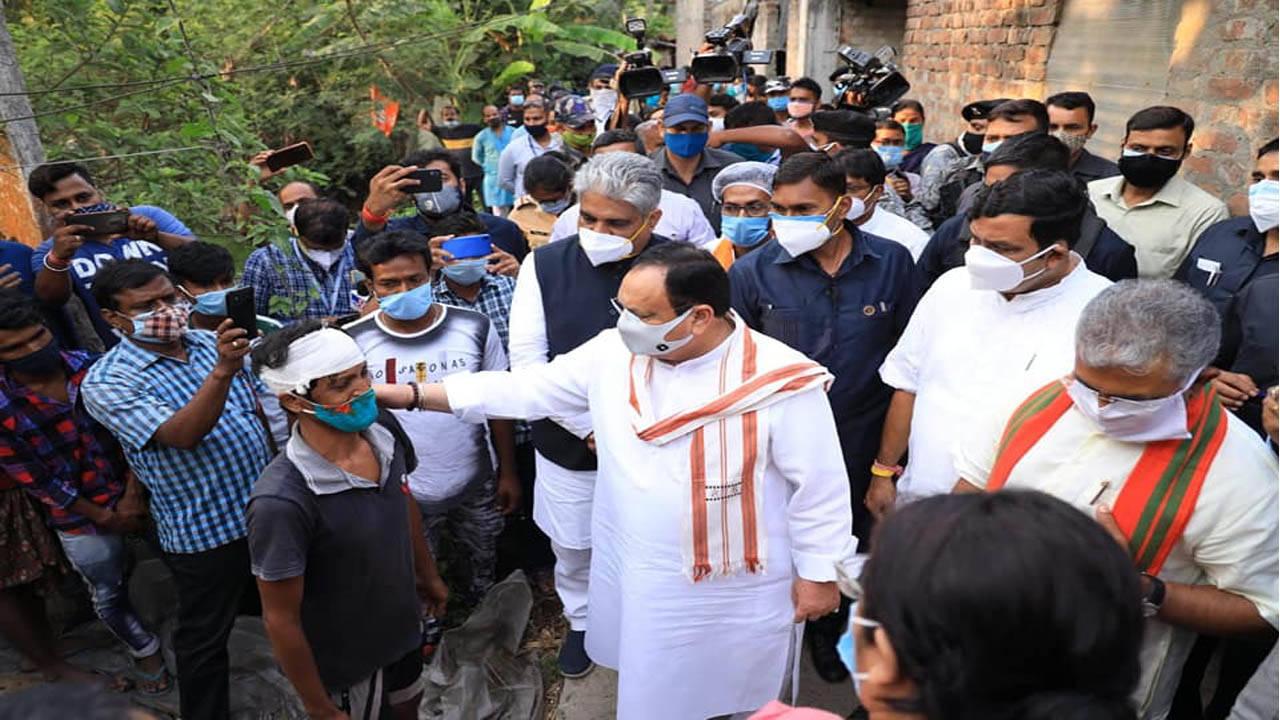 Breaking news  hindi news today news  news in hindi   BJP President JP Nadda  Kolkata  West Bengal after the election
