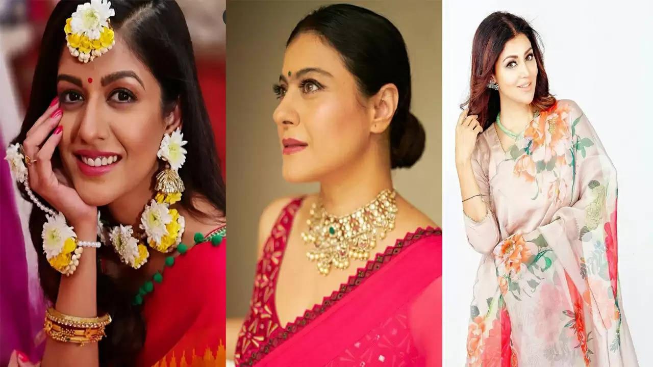 रानी मुखर्जी से मौनी रॉय, देबिना बनर्जी , काजोल : बंगाली अभिनेत्रियां दुर्गा पूजा समारोहों में व्यस्त