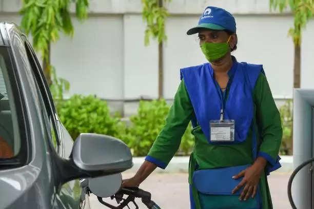 Petrol pump in  india