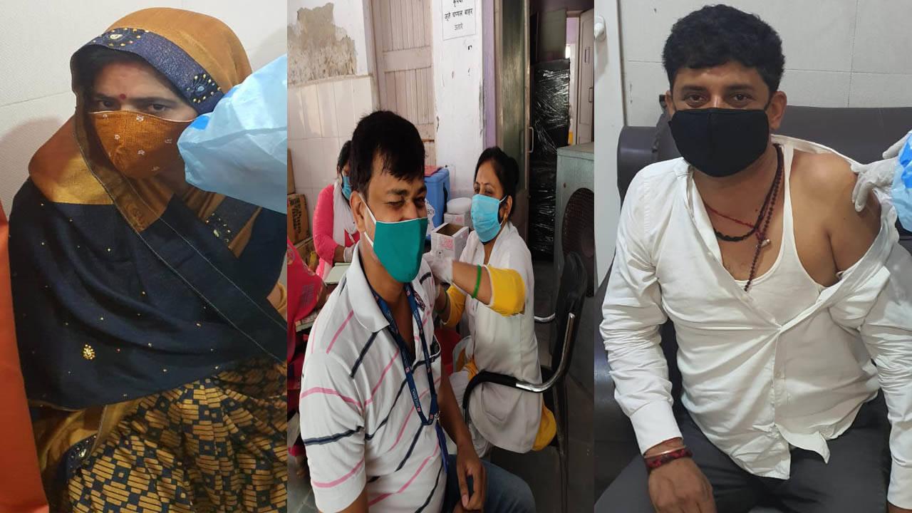 वाराणसी में 17 केंद्रों पर 18 से 45 वर्ष आयुवर्ग का टीकाकरण शुरू, केन्द्रोंं पर लगी कतार