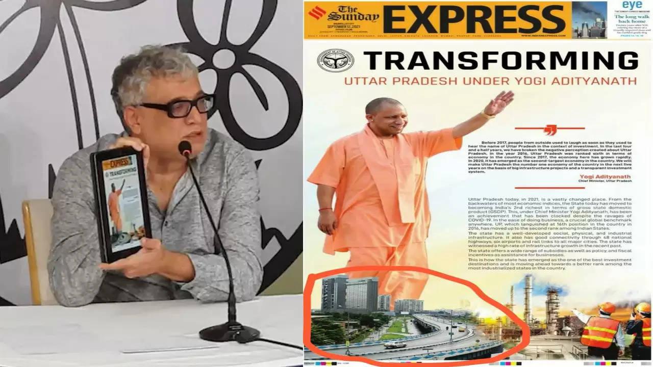 """भगवा पार्टी ने ममता बनर्जी सरकार के तहत """"विकास की होड़"""" को स्वीकार कर लिया बोली टीएमसी मामला अख़बार में छपे एड का"""