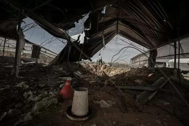 इजरायली विमानों का हमास के ठिकानों पर हमला
