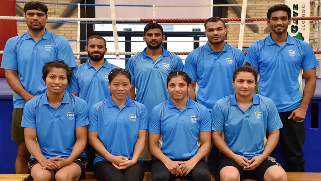 ओलंपिक के लिए टोक्यो पहुंची भारतीय मुक्केबाजी टीम