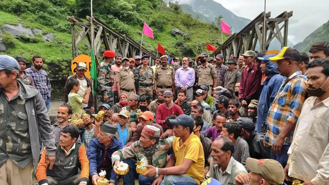 भारत-चीन सीमा के पास बीआरओ ने पांच दिन में बनाया डबल वेली ब्रिज
