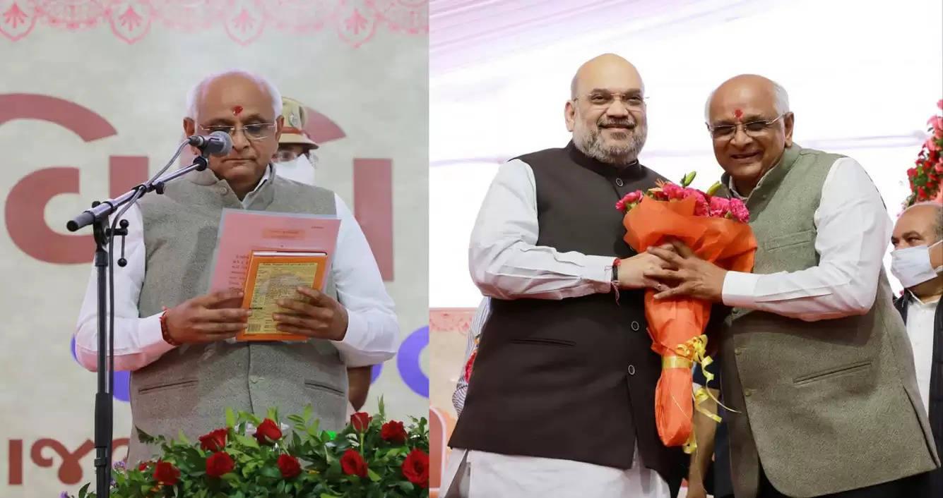 भूपेन्द्र ने गुजरात में 17 वें मुख्यमंत्री के तौर पर ली पद की शपथ, शाह, नितिन, चार भाजपा शासित राज्यों के मुख्यमंत्री रहे मौजूद