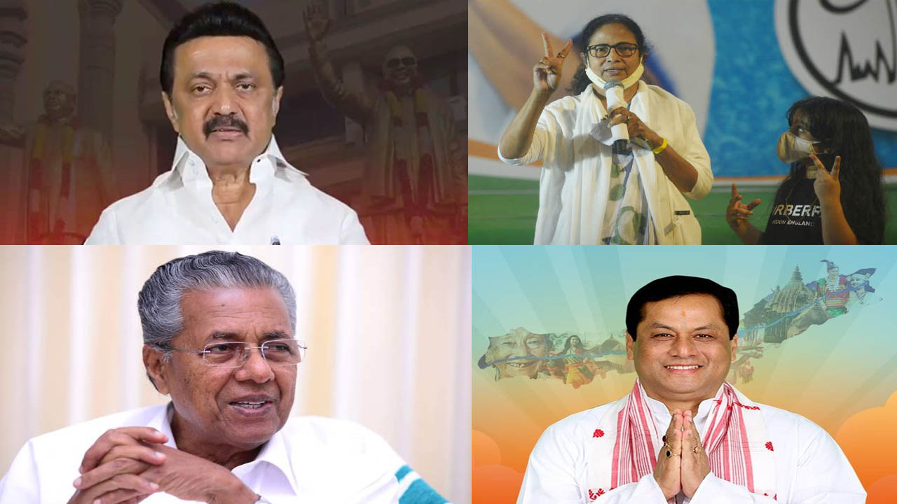 विधानसभा चुनाव 2021 : तीन राज्यों में सत्तारूढ़ और दो में विपक्ष ने दर्ज की जीत