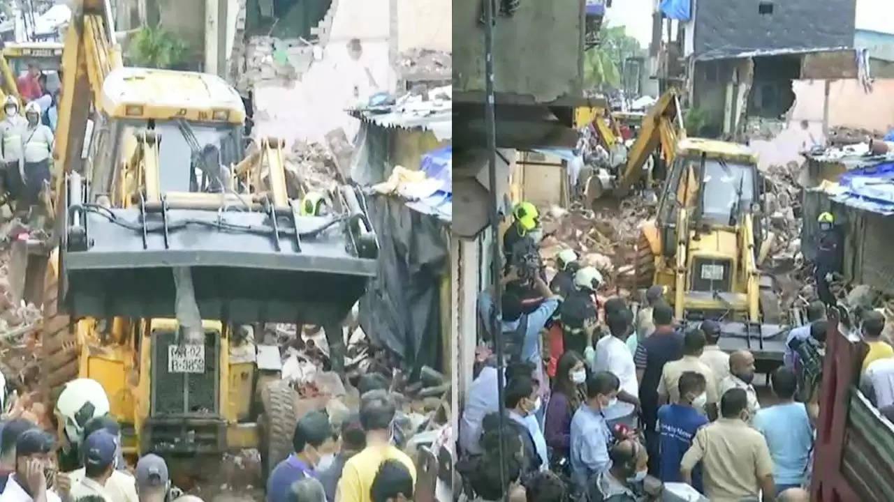 Newspoint24 / newsdesk Mumbai: Malad's Malvani four-storey building collapses, killing 11, six children among the dead