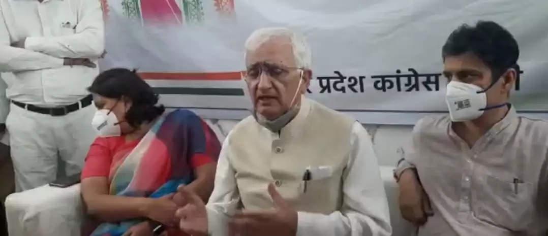 यूपी में प्रियंका गांधी के नाम पर ही चुनाव लड़ा जाएगा ,उनको ही मुख्यमंत्री के तौर पर पेश किया जाएगा : सलमान खुर्शीद