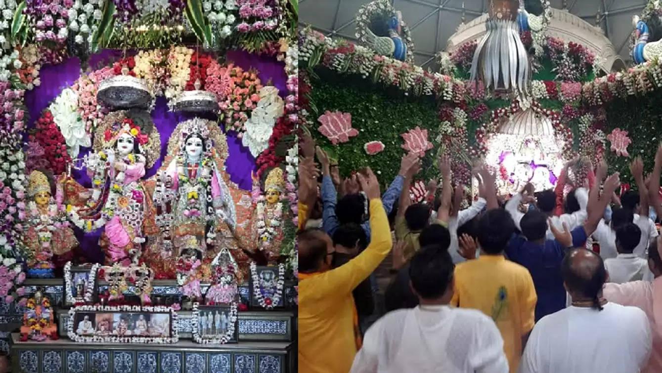 वृंदावन चंद्रोदय मंदिर में हुआ राधाष्टमी महामहोत्सव, महाभिषेक हरिनाम संकीर्तन बना आकर्षण का केन्द्र