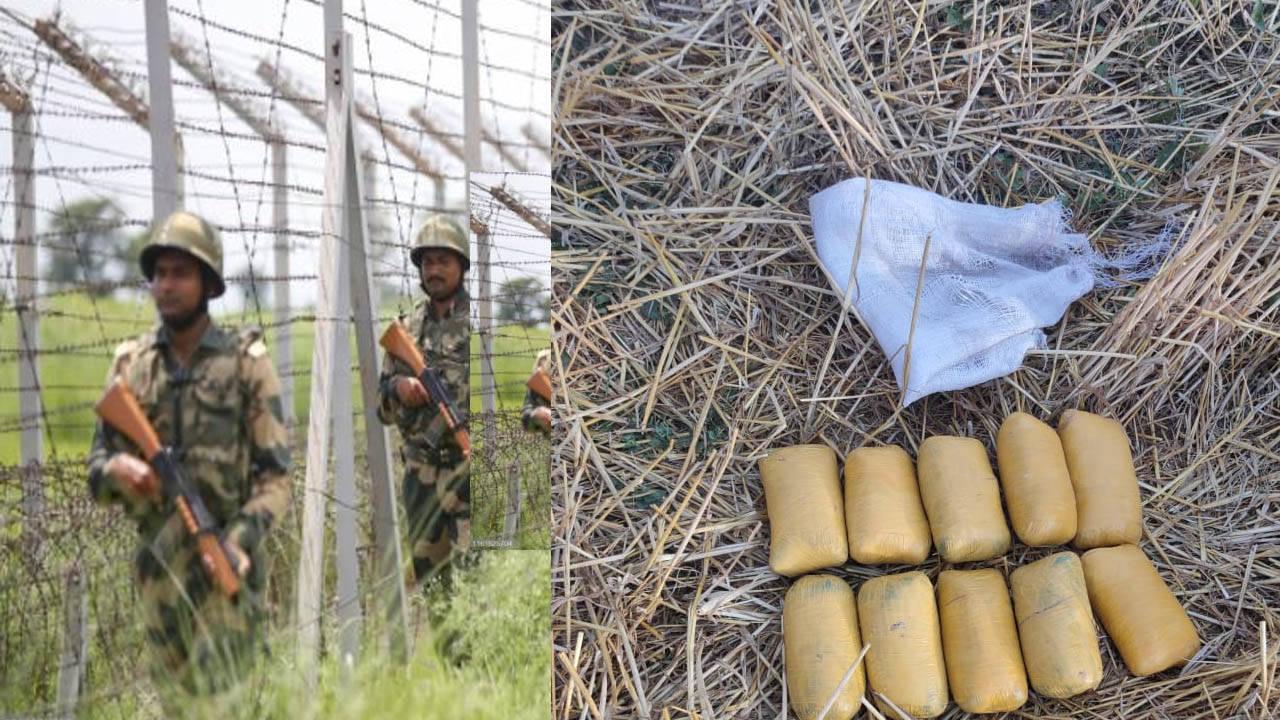 बीएसएफ ने भारत-पाकिस्तान सीमा पर 50 करोड़ की हेरोइन पकड़ी