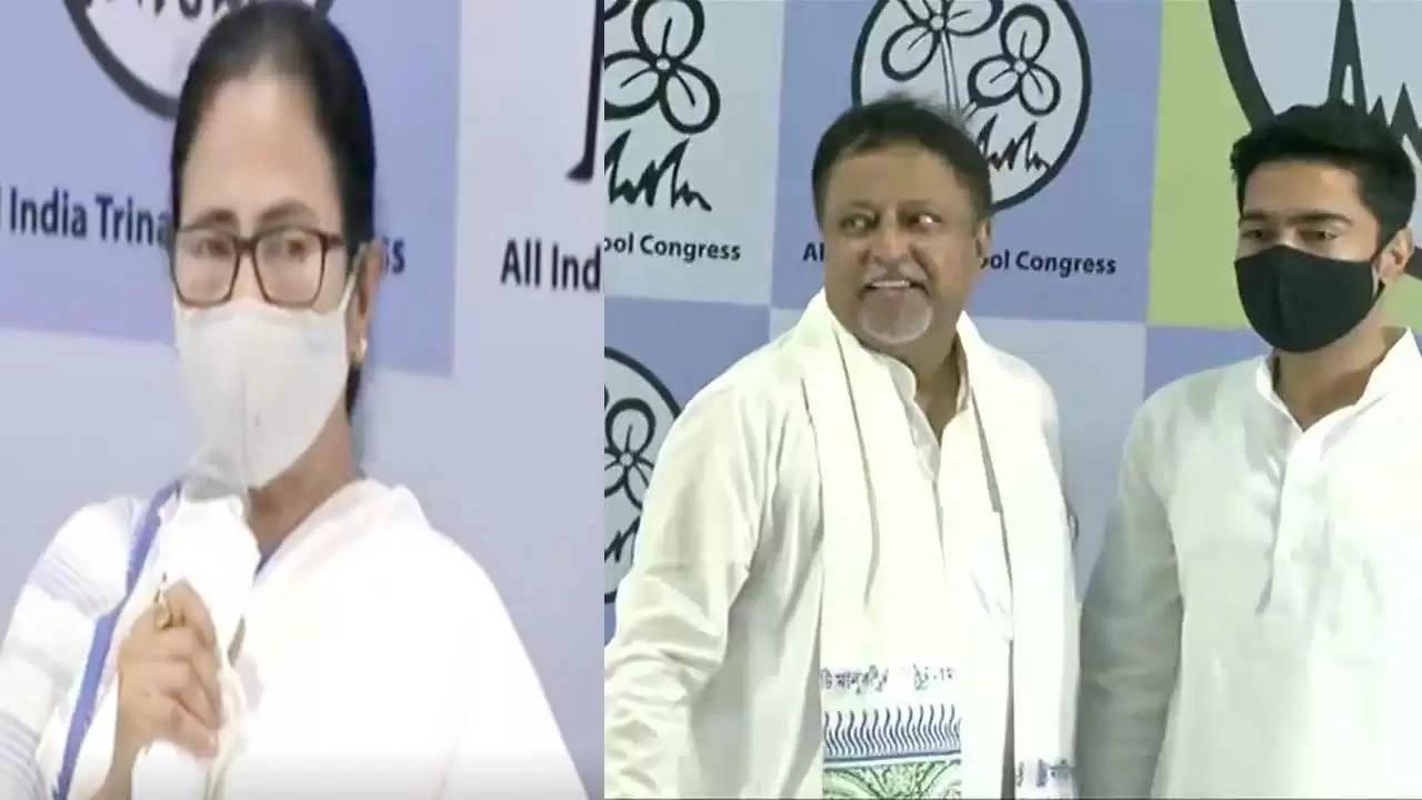 "Newspoint24 /newsdesk ""Ghar ka boy, returned home"" Mukul Roy returns home after four years, joins Trinamool in Mamta's presence"